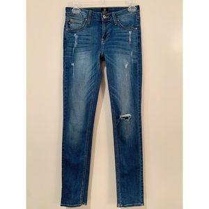 Just Black Stitch Fix Distressed Skinny Jeans